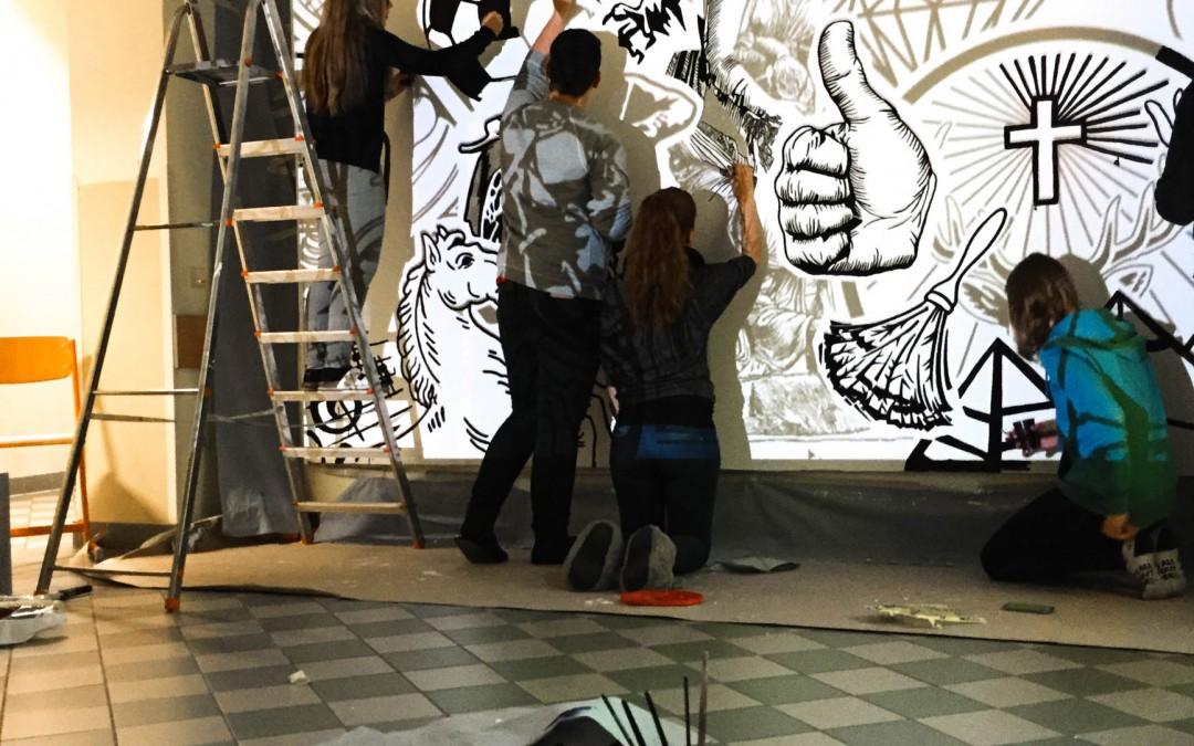 "LBS Wiener Neustadt – Mural WS ""Wandbild"" – 2.LG – 2014|15"