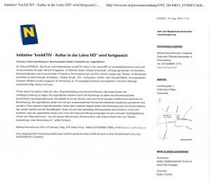 Pressemitteilung APA OTS_Landesrätin Mag. Barbara Schwarz_kreAKTIV_Kultur in der Lehre NÖ_wird fortgesetzt
