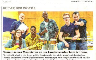 Feb 2019_Bezirksblatt Gmünd_LBS Schrems_Musik WS